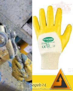 Gr 8-11 Kfz Nitril Handschuhe Gelb Werkstatt Industrie Montage Arbeitshandschuhe