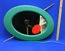 Olive Neon Mirror Sign Bar Display Oval Frame w/ Pimento & 2 Wood Picks NOS