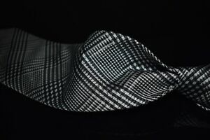 #1 MENSWEAR LNWOT Tom Ford Woven Grey Maxi Plaid Check Heavy Silk Tie ICONIC NR