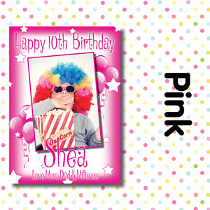 PERSONALISED PHOTO BIRTHDAY PARTY POSTERS ANY AGE, ANY NAME, ANY EVENT A001