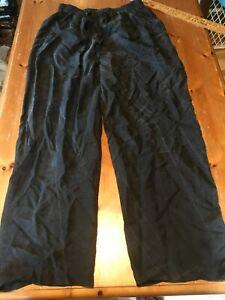 Bogari 100% Silk Lounge Pants Black L Pajama