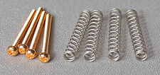 Gold Humbucking Pickup Mounting Screws & Springs Fits Gibson Duncan Dimarzio