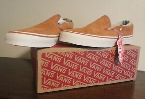 Vans Off the Wall Men's Brown Suede / Sherpa Classic Slip-on NEW in Box