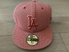 Supreme New York New Era Hat 7 5/8 Checkered Red White Camp Cap Rare Vtg Japan