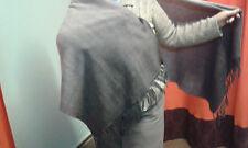 Mujer señoras Dama Invierno Cálido Bufanda Envolvente Chal Capa Poncho Reversible