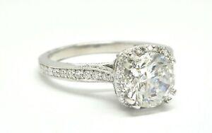 TACORI DANTELA PLATINUM ROUND DIAMOND ENGAGEMENT RING MOUNTING