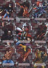 2012 Marvel Beginnings Series 3....3 Insert Sets....VILLAINS-MICROMOTION-COVERS