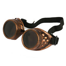 Vintage Steampunk Goggles Glasses Welding Cyber Punk Gothic US STORE