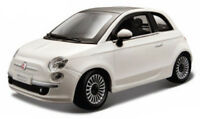 FIAT 500 1:24 scale diecast model die cast models toy white