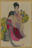 Japanese 20th Century Mixed Media - Pair of Women in Kimonos