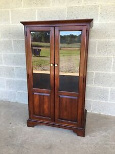 STATTON CENTENNIAL FINISH SOLID CHERRY CURIO - MEDIA CABINET