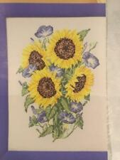 CROSS STITCH SUNFLOWERS CHART REMOVED FROM A MAGAZINE KIT OR CHART