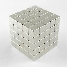 "125pcs 3/8"" x 3/8"" x 3/8"" Block 10x10x10mm Neodymium Magnets Craft Permanent N35"