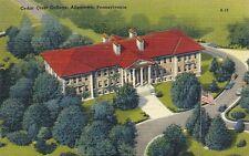 Vintage Linen Postcard Cedar Crest College Allentown Pennsylvania PA Unused