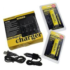 NEW NITECORE i4 V2 Intellicharge Charger w/ Two 3400mAh 18650 NL189 Batteries