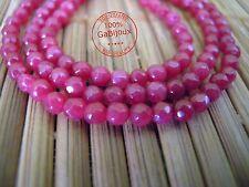 Perline Sfaccettate di 4mm Perla Agata Fuscia Piccole Sfaccettata Bigiotteria