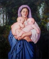 Quality Hand Painted Oil Painting Repro Bouguereau Charity, 1859 20x24in
