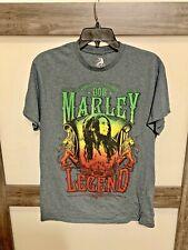 Men's T-shirt Zion Rootswear Bob Marley Rasta Legend Black Size M