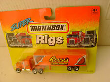 1994 MATCHBOX SUPER RIGS ORANGE KENWORTH AERODYNE TRUCK & TRAILER REESE'S PEANUT