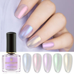 BORN PRETTY 6ml Pearl Shell Nail Art Polish Glitter Shimmer  Varnish Tip