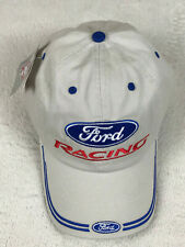 Ford Racing Embroidered Baseball Golf Hat Putty Color Adjustable NEW