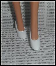 SHOES MATTEL BARBIE PRINCESS OF ANCIENT GREECE  WHITE FLAT CLOSED TOE SHOES
