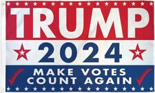 """New listing 10 x """"Trump 2024 Make Votes Count Again"""" flag 3x5 ft poly"""