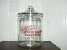 Toms Lance Jar Marked Fishers Large 2 Gallon Sealed in Original Box 1946 NOS