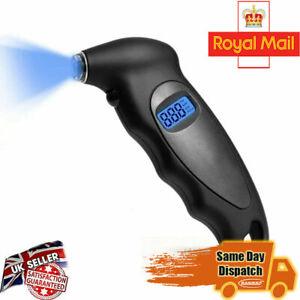 Digital LCD Tyre Tire Air Pressure Gauge Tester Tool for Auto Motorcycle Car UK