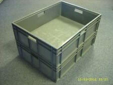 3 X New Grey Vented Removal Storage Crate Box Container 87 Litres