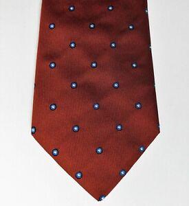 Charles Fox tie polka dot spots circles Savile Row polyester microfibre