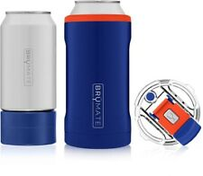 Hopsulator Trio 3-in-1 Stainless Steel Insulated Can Cooler, Orange & Blue
