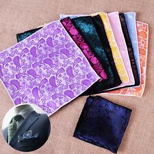 10pcs Men Party Paisley Floral Handkerchief Square Pocket Jacquard Hanky Hankie