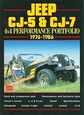 1976 77 78 79 80 81 82 83 84 85 86 JEEP CJ-5 & CJ-7 4X4  PERFORMANCE PORTFOLIO