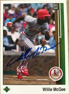 Willie McGee Autographed 1989 Upper Deck #621