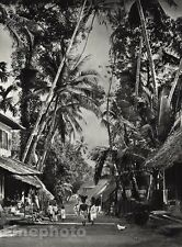 1928 Original INDIA Cochin Street Indian Quarter City Chicken Photo By HURLIMANN