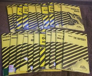 CLIFFS NOTES Lot of 21 Study Guides, Shakespeare, Dickens, Lee, Steinbeck, etc.