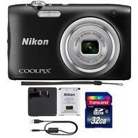 Nikon Coolpix A100 20.1MP Digital Camera with 32GB Accessory Bundle (Black)