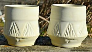 """Signed Artisan from Seasons on St Croix Pottery Stoneware Succulent Pot 3"""" MCM"""