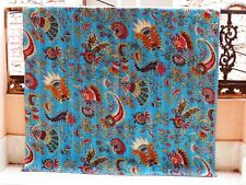 Indian Quilt Cotton Kantha Stitch Handmade Blanket ,Bed Spread King Size Crazy 2