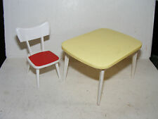 Alter Stuhl+Tisch-50/60er Jahre-Küche-Puppenhaus-Puppenstube-Crailsheimer-1:12