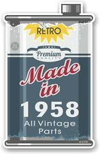 Aged Metal Tin Oil Can MADE IN 1958 Retro Novelty Ratlook Motorcycle car sticker