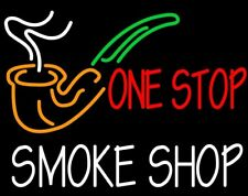 "New One Stop Smoke Shop Open Light Lamp Beer Neon Sign 24""x20"""