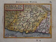 ITALY - MARCHE. MARCA ANCONITANA BY ORTELIUS CIRCA 1601. ORIGINAL COLOUR.