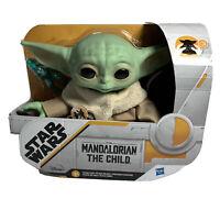 The Mandalorian The Child Baby Yoda Talking Plush Star Wars Disney + NIB Ages 3+