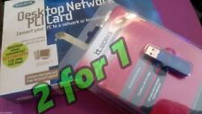 2for1 BELKIN F5D5000 DESKTOP NETWORK CARD ITWORKS B/TOOTH USB ADAPTER BTU2 BOXED