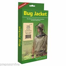 MOSQUITO BEE FLY OUTDOOR JACKET LARGE ULTRA-FINE 1150 MESH NO-SEE-UM <240 LBS