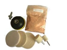 Glass Polishing Kit, Glass Scratch Removal ,8 Oz Cerium Oxide and 3''  Bobs
