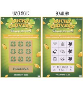 Pregnancy Announcement Fake Lottery Scratch Off Tickets, Surprise Reveal! 2 pack