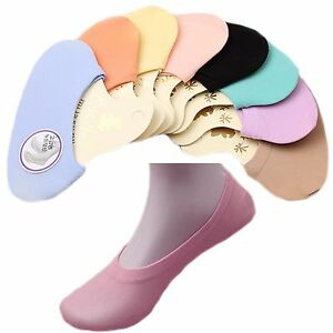 5/6/10 Pairs Womens / Girls invisible Footsies Socks Shoe Liners UK Size 2 - 8